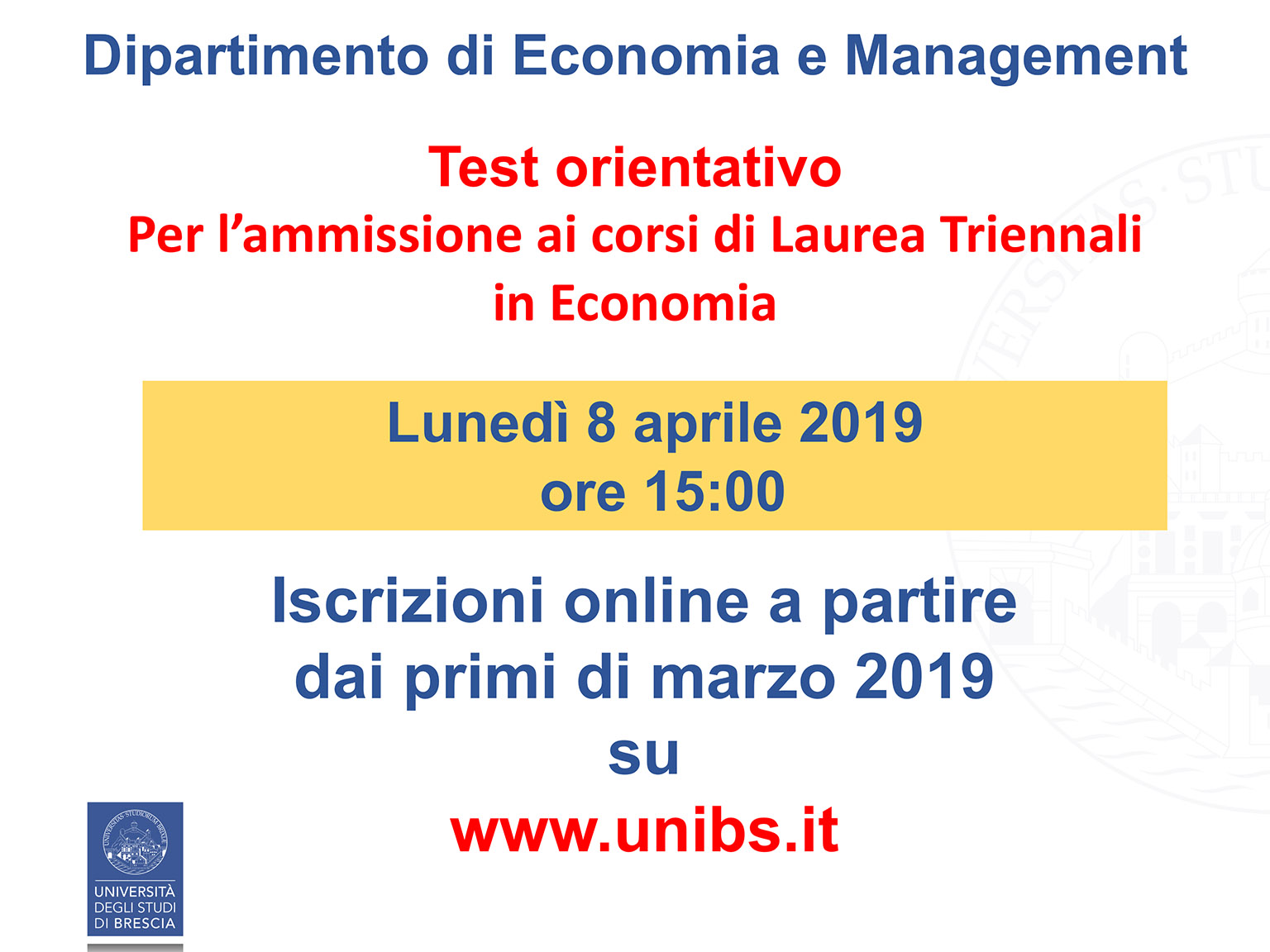 Unibs Calendario Esami.Iiss Bazoli Polo